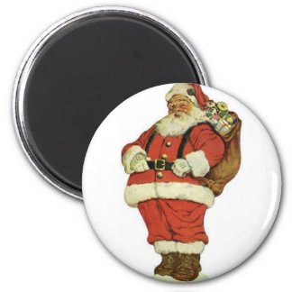 Have a Holly Jolly Christmas Santa Claus 6 Cm Round Magnet