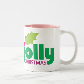 Have a Holly Jolly Christmas Two-Tone Coffee Mug