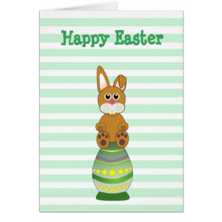 Have a Hoppy Easter Bunny in Egg Personalised Card