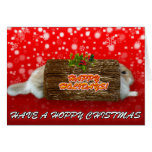 Have A Hoppy Holiday Red - Rabbit Christmas Card