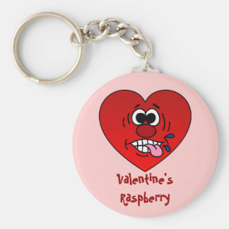 Have a Juicy Raspberry for Valentine's Basic Round Button Key Ring