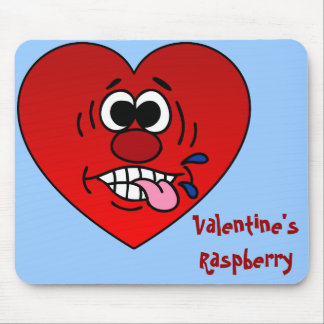 Have a Juicy Raspberry for Valentine's Mouse Pad