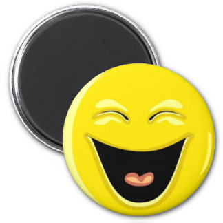 Have a Laugh Smiley Face 6 Cm Round Magnet