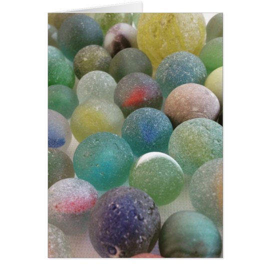 Have a marbelous day! Sea glass marble card