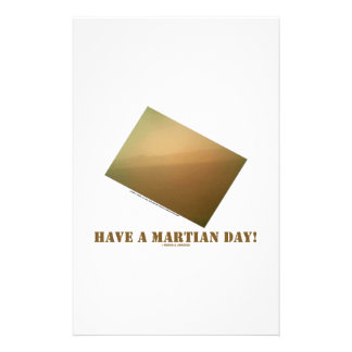 Have A Martian Day! (Martian Landscape Curiosity) Customised Stationery
