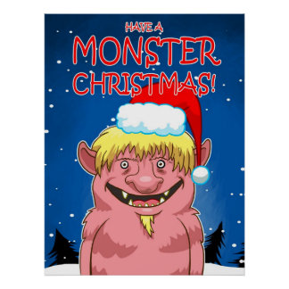 Have a Monster Christmas Print