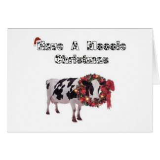 Have A Moooie Christmas Cow Card