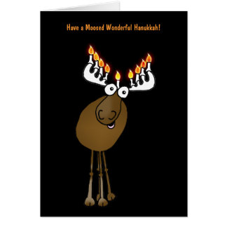 Have a Moosed Wonderful Hanukkah! Greeting Card