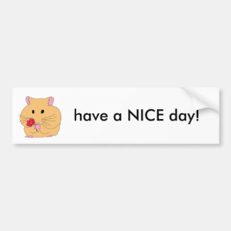 have a nice day 2 bumper sticker