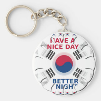 Have a Nice Day & a Better Night Basic Round Button Key Ring