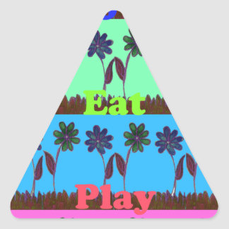 Have a Nice Day and a Better Night.png Triangle Sticker