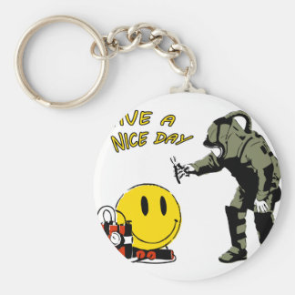 Have a nice day... basic round button key ring