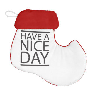 Have a Nice Day Elf Christmas Stocking
