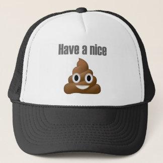 Have a nice poop-emoji - Poo cartoon design Trucker Hat