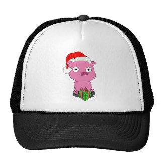 Have a pink pig vegan Christmas Cap
