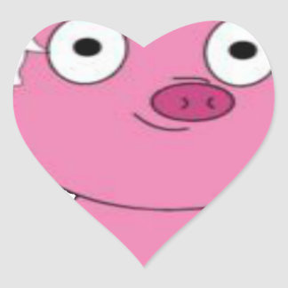 Have a pink pig vegan Christmas Heart Sticker