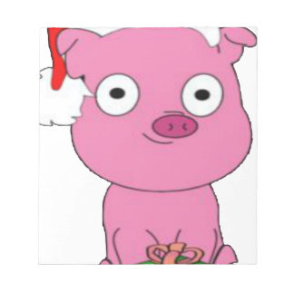 Have a pink pig vegan Christmas Notepad