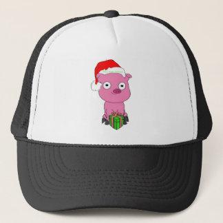 Have a pink pig vegan Christmas Trucker Hat