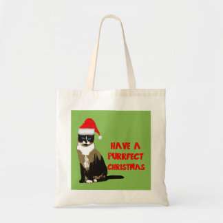 Have A Purrfect Christmas Budget Tote Bag