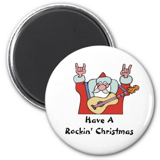 Have A Rockin' Christmas Magnet