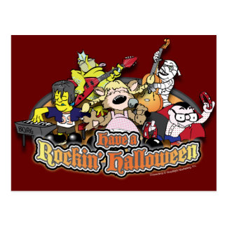 Have a Rockin' Halloween Post Card