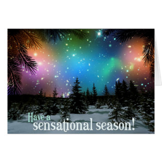 Have A Sensational Season! Hubble Space Telescope Greeting Card