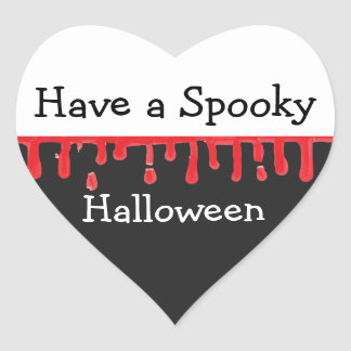Have a Spooky Halloween Heart Sticker
