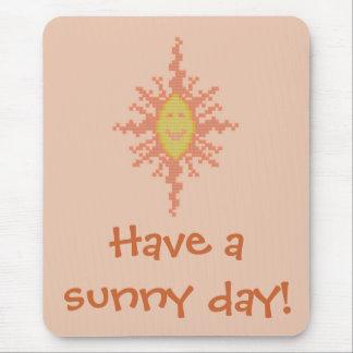 Have a sunny day Sunburst Mousepad