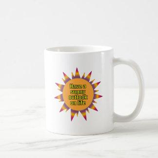 Have a Sunny Outlook on Life Basic White Mug