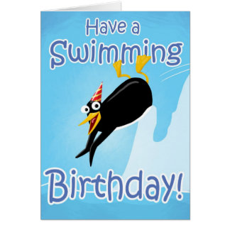 Have a Swimming Birthday Card