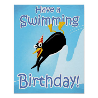 Have a Swimming Birthday Print