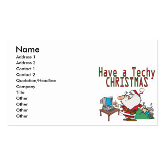 have a techy christmas computer geek santa pack of standard business cards
