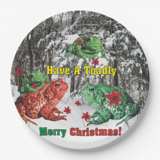 Have a Toadly Merry Christmas 9 Inch Paper Plate