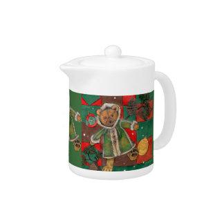 Have a Very Beary Christmas!~teddy bear Teapot