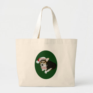 Have a Very Corgi Christmas- Gimli Large Tote Bag
