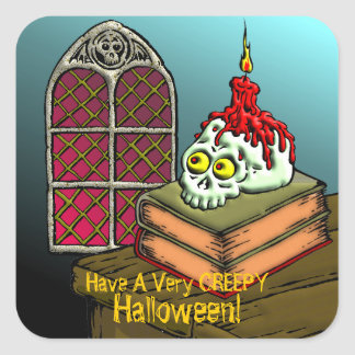 Have A Very Creepy Halloween Square Sticker