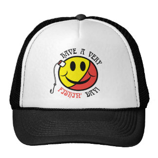 Have A Very Fishin' Day! Mesh Hats