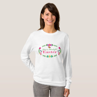 Have a wonderful Easter -floral and butterflies T-Shirt