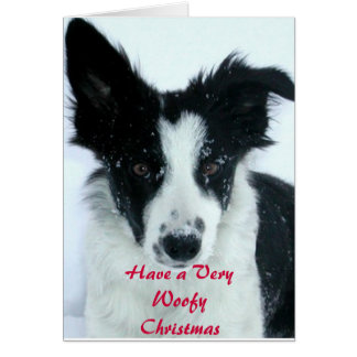 Have a Woofy Christmas Greeting Card