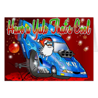 Have a Yule Thats Cool - Funny Car Xmas Card