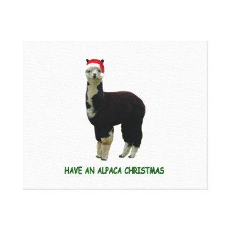Have an alpaca Christmas Canvas Prints