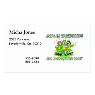 Have An Intoxicating St Patrick s Day Business Card Template