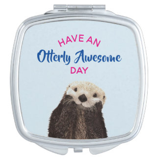 Have an Otterly Awesome Day Cute Otter Photo Vanity Mirrors