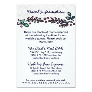 Have and Hold Rustic Floral Wedding Info Card