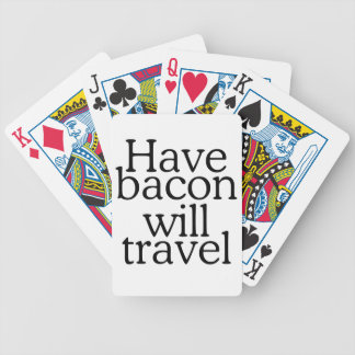 Have Bacon Will Travel Typography Poker Deck