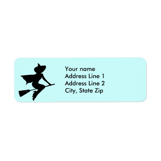 Have Broom Will Travel Return Address Label