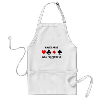 Have Cards Will Play Bridge Standard Apron