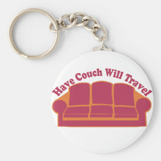 Have Couch Will Travel Basic Round Button Key Ring