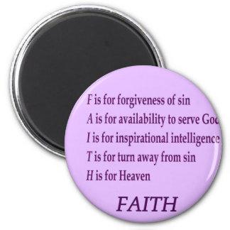 Have Faith 6 Cm Round Magnet
