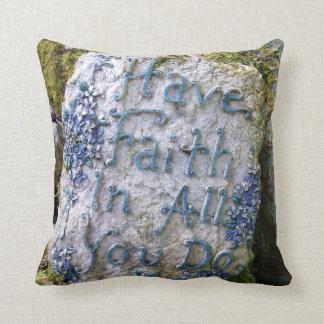 Have Faith Flower Pillow